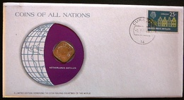 Numisletter Ned. Antillen Coin UNC 5 Cent 1982 + Stamp 1974 - Netherland Antilles