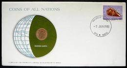 Numisletter SamoaCoin UNC 1 Sene 1974 + Stamp 1978 - Samoa