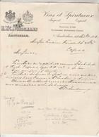 Pays Bas Facture Lettre Illustrée 27/11/1908 H W C WÜRDEMANN  Vins Et Spiritueux AMSTERDAM - Pays-Bas