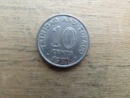 Trinite & Tobago  10  Cents  1971 Km 3 - Trinidad & Tobago