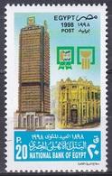 Ägypten Egypt 1998 Wirtschaft Economy Nationalbank National Bank Geldwesen Bauwerke Buildings, Mi. 1944 ** - Ägypten