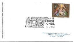 MF130 - MARCOFILIA - 4411 CHRISTKINDL - 6.1.1992  - TEMATICA RELIGIONE - 1981-90 Covers