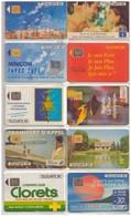 10 Télécartes France. 1992 - 1992