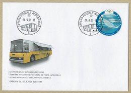 2001 HELVETIA SUISSE Enveloppe Postale - DERNIERE AFFECTATION DU BUREAU DE POSTE AUTOMOBILE GABRA IV - Joint Issues