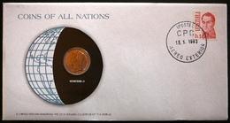 Numisletter Venezuela    Coin UNC 1bolivarr 1977 + Stamp 1978 - Venezuela