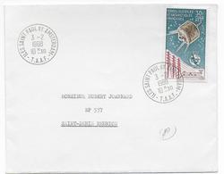 TAAF - 1968 - PA YT N°9 OBLITERE Sur ENVELOPPE => LA REUNION - COTE Du TIMBRE= 225 EUR. - Terres Australes Et Antarctiques Françaises (TAAF)