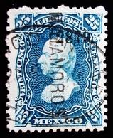 1881 Mexique Mi 99Ix . Sn 120 . Hidalgo - Overprinted - Mexico