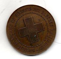 Société Française De Secours Aux Blessés Militaires. Attribuée En 1937. Diam 50mm - Autres