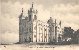 POSTAL   -TUNISIA (TUNEZ)  - CARTHAGE -LA CATHÉDRALE - Túnez