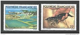 "Polynésie YT 150 & 151 "" Aquaculture "" 1980 Neuf** - French Polynesia"