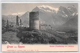 Gruss Aus Ragaz Ruinen Freudenberg Mit Falknis - SG St. Gallen