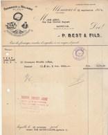 Pays Bas Facture Illustrée Soleil Chat Vache 15/9/1938 P BEST Fromages De Hollande ALKMAAR - Pays-Bas