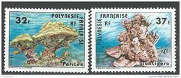 """Polynésie YT 130 & 131 """" Coraux """" 1979 Neuf** - Französisch-Polynesien"""