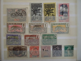 COLONIES Françaises Collection De 600 Timbres Neuf*/**+ Oblitérés - Timbres
