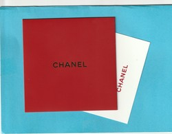 CHANEL** Nouvel AN Chinois  2019 ** Carte +  Enveloppe Rouge (Red Pocket ) - Perfume Cards
