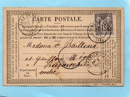 N°77 Sur C.P. Gare De BRIVE,corresp. De TULLE Le 9/9/77. - Postmark Collection (Covers)