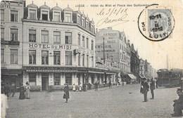 Liége NA47: Hôtel Du Midi Et Place Des Guillemins 1912 ( Tramway ) - Luik