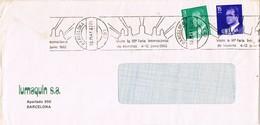 31345. Carta BARCELONA 1982. Rodillo 50 Feria Muestras. Fuentes De Montjuich - 1931-Hoy: 2ª República - ... Juan Carlos I