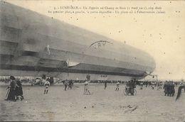 Lunéville - Dirigeable, Un Zeppelin Au Champ De Mars (Avril 1913), Côté Droit - Pilote à L'Observatoire D'avant - Dirigeables
