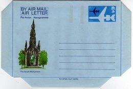 GB Gran Bretagna 1975 Air Letter The Scott Monument Mint - Interi Postali