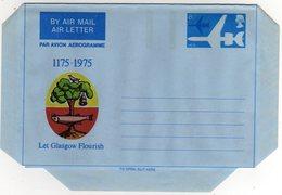 GB Gran Bretagna 1975 Air Letter Let Glasgow Flourish Mint - Interi Postali