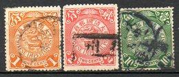 ASIE - (CHINE - EMPIRE) - 1902-09 - N° 61, 62 Et 66 - (Lot De 3 Valeurs Différentes) - (Dragon) - Usati