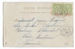 CALEDONIE - 1904 - CARTE LOCALE De NOUMEA - Covers & Documents