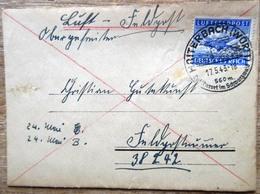 DR Feldpost 2.WK Mit Blauer Feldpostmarke Als EF Auf Brief SST Haiterbach Württ. 17.5.43 Mit Inhalt - Deutschland