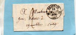 Cachet 12 BEAUVAIS,L.A.C. Du 15/3/36-cachet 12 CHAMBLY Au Dos. - 1801-1848: Précurseurs XIX