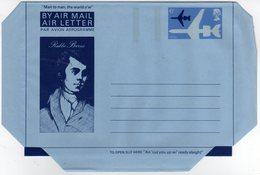 GB Gran Bretagna 1975 Air Letter Rabbie Burns Mint - Interi Postali