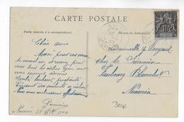 CALEDONIE - 1905 - CARTE LOCALE De NOUMEA Avec OBLITERATION Du 1 JANVIER ! RARE - Briefe U. Dokumente