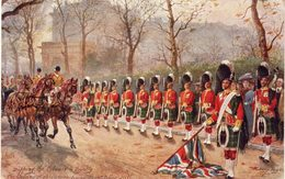 ILLUSTRATEUR RAPHAEL TUCK OILETTE Military In London Dipping The Colours To Royalty - Tuck, Raphael