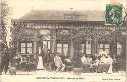 Dépt 80 - LONGPRÉ-LES-CORPS-SAINTS - Buvette MARTY (Buvette De La GARE) - Devanture CAFÉ GROS PLAN - Cliché S. Petit - France