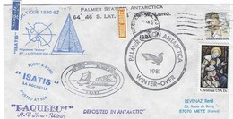 PALMER STATION ANTARCTICA   1981  Programme  Isatis 12 MAI1981 - Dépendance De Ross (Nouvelle Zélande)
