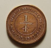 Straits Settlements 1/4 Cent 1916 Varnished - Coins