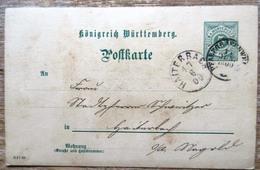 Württemberg Gansache 5 Pfg. Grün Aus Pfalzgrafenweiler Nach Haiterbach 1900 - Wuerttemberg