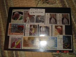 TIMBRES OBLITERES DU VATICAN - Collections (sans Albums)