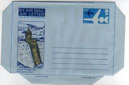 GB Gran Bretagna 1976 Air Letter Argae Penygarreg Rugby Conwy Castle Mint - Interi Postali