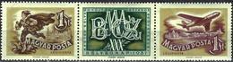 Hungary 1957 - Stamp Day : Postman And Jetplane ( Mi 1501/02 - YT Pa 195/96 ) MNH** - Airmail