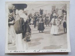 MEXIQUE - MEXICO - Rare Photographie Ancienne 1909 - Bal Indien  - 12 Décembre - Pélerinage Notre-Dame De Guadalupe - Fotos
