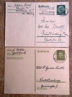DR Ganzsachen 6 Pfg. Hindenburg + 6 Pfg. Ebert Gebraucht Stempel Goldbeck, Leipzig - Deutschland