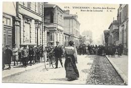 94-VINCENNES-Sorties Des Ecoles, Rue De La Liberté...1908  Animé - Vincennes
