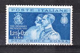 Italia   -  1930. Nozze Reali. Pro Croce Rossa  1,25 + 0,25 L - 1900-44 Vittorio Emanuele III