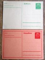 DR Ganzsachen 55 Pfg. Hindenburg Rohrpostkarte, 5 Pfg. Hindenburg Grün Ungebraucht - Deutschland