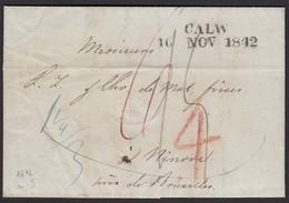 Württemberg 1842 L2 CALW Nach NINOVE Belgien    (16000 - Unclassified