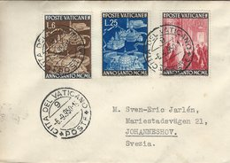 Vatican - Cover Sent To Sweden. S-4710 - Covers & Documents