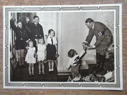 DR Ganzsache Hitler 6+19 Pfg.braun Rückseitig Foto Hitler Mit Kindern Ungebraucht - Deutschland