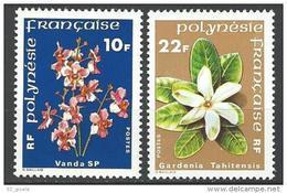"Polynésie YT 128 & 129 "" Fleurs "" 1979 Neuf** - Unused Stamps"