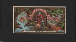 ETIQUETTE DE SAVON DES PRINCES DU CONGO / VICTOR VAISSIER /  N° 198 / ETIQUETTE ANCIENNE 1900 D EPOQUE  / - Etiquettes