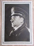 DR Ganzsache Hitler 6+19 Pfg.braun Rückseitig Foto Hitler Porträt Mit Mütze Ungebraucht - Deutschland